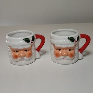 ❄ Set of 2 Santa Claus Shot Glass Mugs